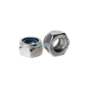 nylon lock nut stainless 304 mili